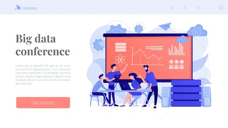 Big data conferenceconcept landing page.