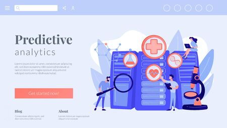 Big data healthcare concept landing page.