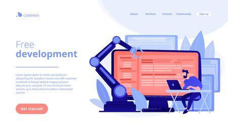 Open automation architecture concept landing page.