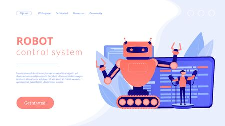 Remotely operated robots concept landing page.