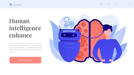 Augmented intelligence concept landing page.