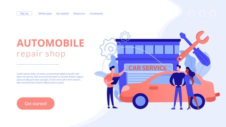 Car service concept landing page.