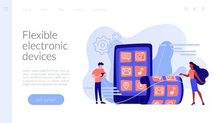 Foldable smartphone concept landing page.