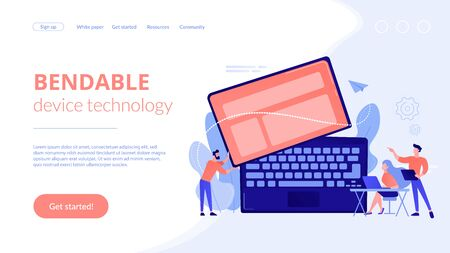 Detachable device technology concept landing page.