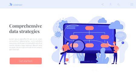 Data driven business model concept landing page.