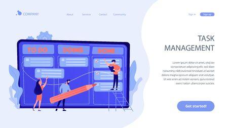 Task management concept landing page.