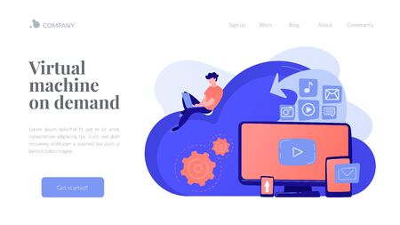 Cloud based engine concept landing page.