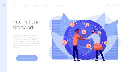 International business concept landing page. Reklamní fotografie - 146412049