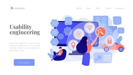 Intelligent interface concept landing page
