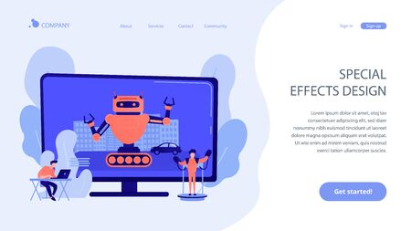 Special effects design concept landing page Illustration