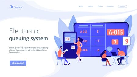 Electronic queuing system concept landing page