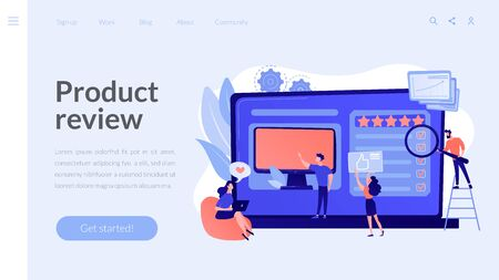 Product review concept landing page