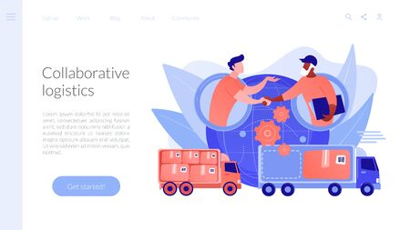Collaborative logistics concept landing page