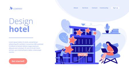 Design hotel concept landing page.