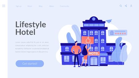 Lifestyle hotel concept landing page.