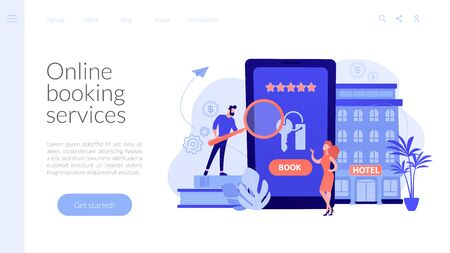 Booking hotel concept landing page