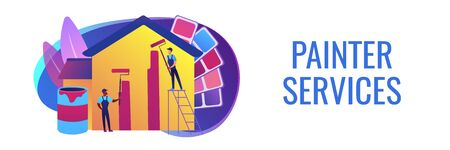 Painter services concept banner header Ilustração
