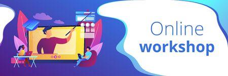 Online workshop concept banner header