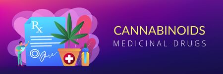 Medical marijuana concept banner header.