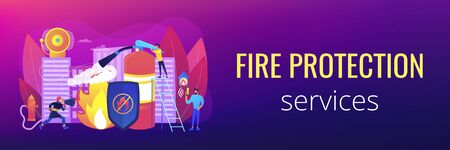 Fire protection concept banner header.