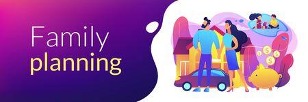 Family planning concept banner header