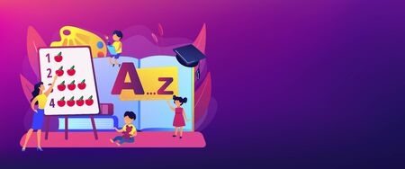 Early education concept banner header