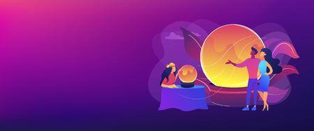 Fortune telling concept banner header Ilustración de vector