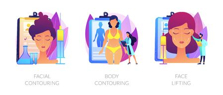 Beauty medical services vector concept metaphors. Ilustrace