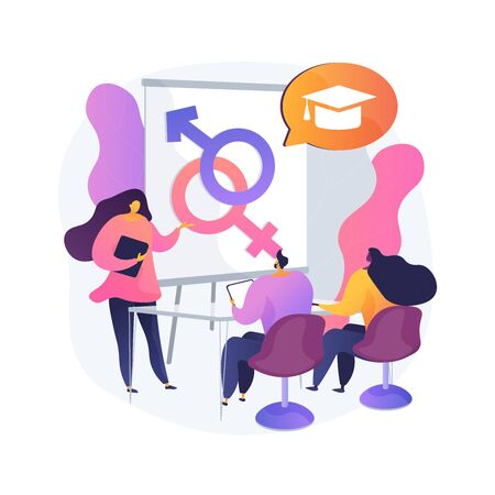 Sexual education abstract concept vector illustration. Illustration