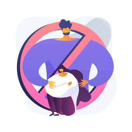 Sexual harassment abstract concept vector illustration.