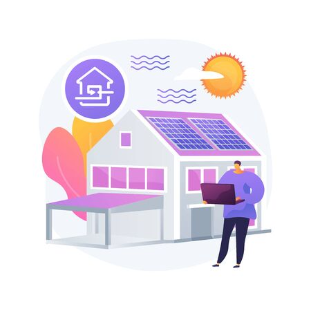 Passive house abstract concept vector illustration. Illustration