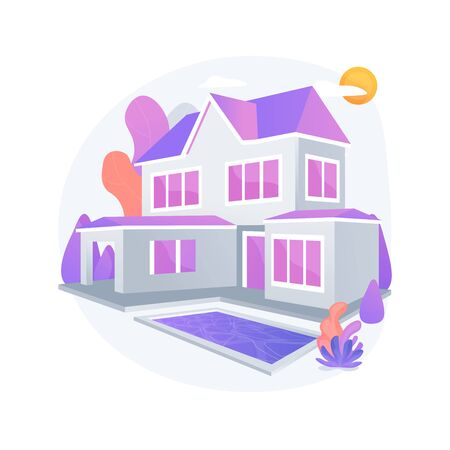 Private residence abstract concept vector illustration. Иллюстрация