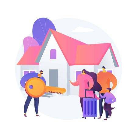 Real estate abstract concept vector illustration.