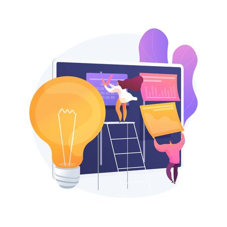 Project planning abstract concept vector illustration.