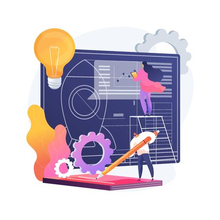 Project initiation abstract concept vector illustration. Иллюстрация