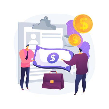 Illustration vectorielle de prêt d'argent concept abstrait.