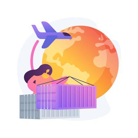 Global transportation system abstract concept vector illustration. Ilustración de vector