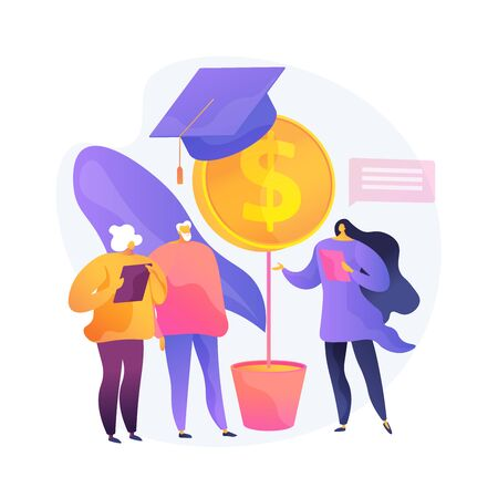 Retirees financial literacy vector concept metaphor Illustration