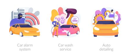 Automobile care service abstract concept vector illustrations. 矢量图像