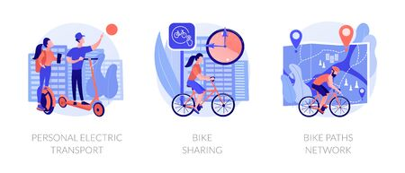 Eco friendly urban transport vector concept metaphors