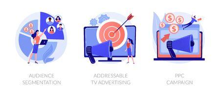 Advertising technologies vector concept metaphors.