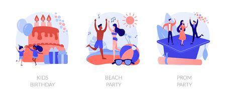 Festive events concept metaphors. Vettoriali