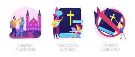 Religion vector concept metaphors