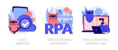 Robotic programmes development vector concept metaphors