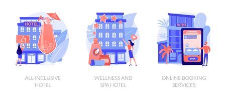 Luxury hotels abstract metaphors