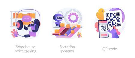 Logistics order processing abstract concept vector illustrations. Vector Illustration