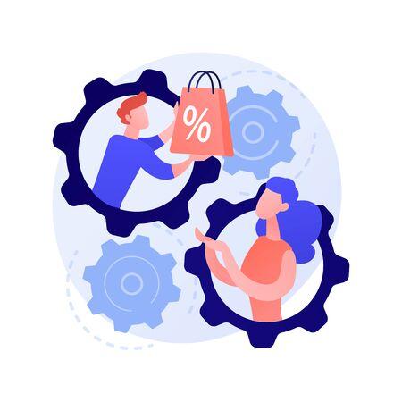 Face to face selling technique vector concept metaphor Ilustración de vector