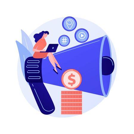 Content marketing vector concept metaphor