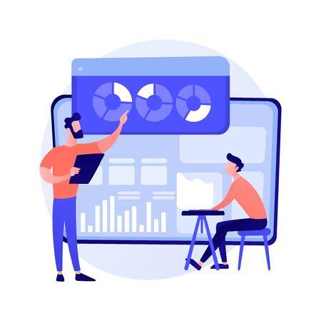Statistics data analysis vector concept metaphor Illustration