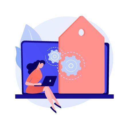 Freelance programming vector concept metaphor